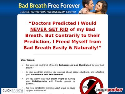 Bad Breath Free Forever – The 100% Natural Remedy For Bad Breath!
