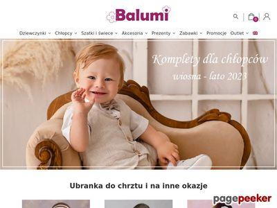 Balumi - ubranka do chrztu
