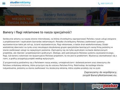 Banery reklamowe Warszawa, windery