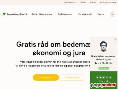 Skärmdump av begravelsesguiden.se