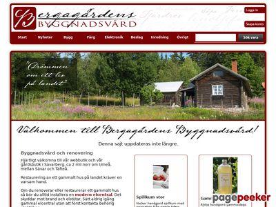 Bergagårdens Byggnadsvård - http://www.bergagardens.se
