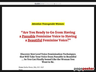 Voice Feminization – Fundamentals of Your Feminine Voice