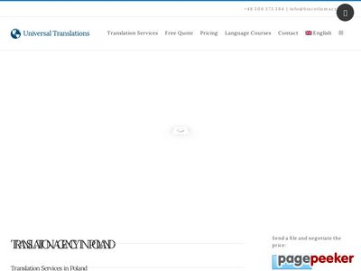 Universal Translations