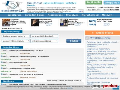 BiznesOferty.pl - szukam wspólnika, szukam dystrybutorów