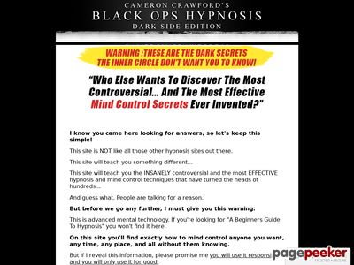 Secrets Of Covert Hypnosis – Black Ops : Darkside Edition