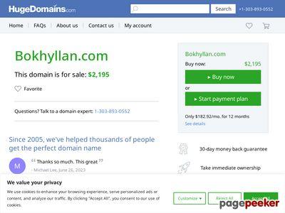Skärmdump av bokhyllan.com