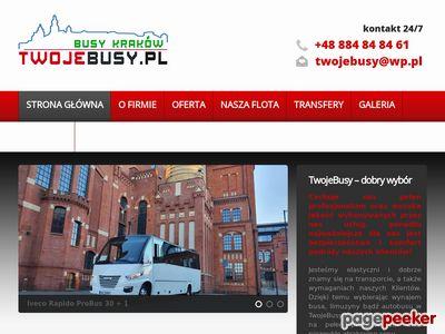 Wynajem markowych busów w miejscowości Kraków