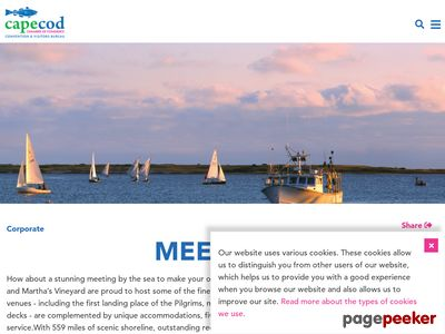 Cape Cod Meeting Planning Guide Screenshot