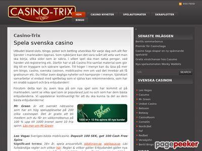 Svenska Casinon Bingo Online - http://www.casino-trix.com