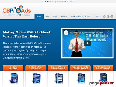 Clickbank Affiliate Tools - Ad, Storefront & WordPress Plugin