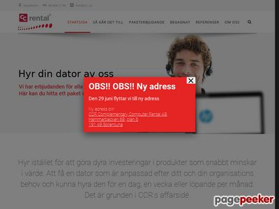 Skärmdump av ccr.se