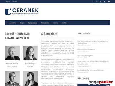 Ceranek - Kancelaria Radców Prawnych Ceranek - Kancelaria Poznań