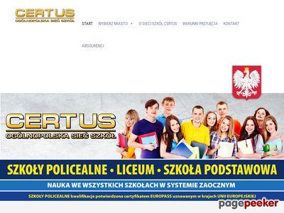 Certus - szkoła z darmo