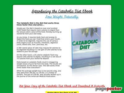 Catabolic Diet Ebook