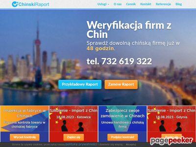 Chinskiraport.pl -Weryfikacja chińskiej firmy