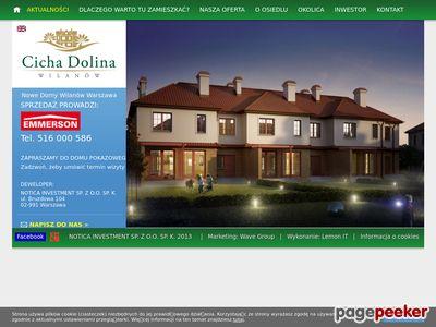 Www.cichadolina.waw.pl - nowe domy Zawady