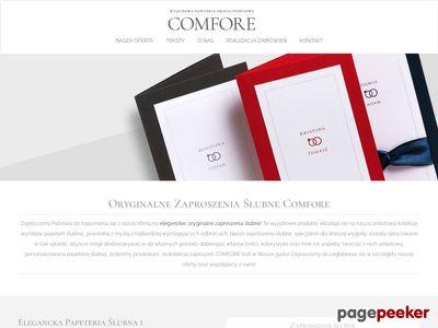Oryginalne zaproszenia ślubne z Comfore.pl | Winietki ślubne