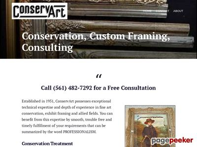 ConservArt - Master Frame Makers & Conservators Screenshot