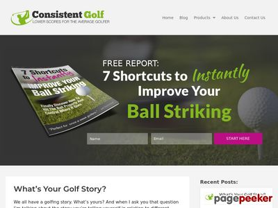 ConsistentGolf.com – Lower Scores For Once-A-Week Golfers