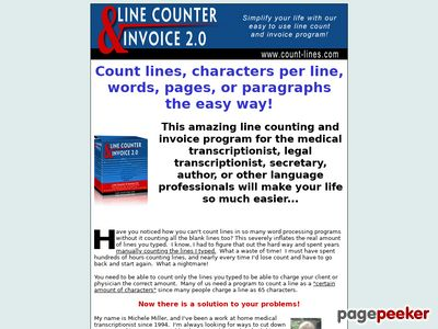 Count Lines the Easy Line Counter and Invoice Program Software