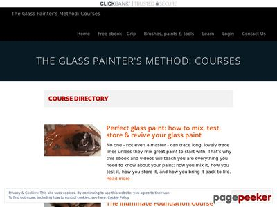 Course Directory – The Glass Painter's Method: Courses