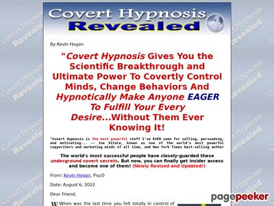 Covert Hypnosis to Change Minds & Control Behavior