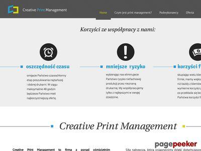 CREATIVE PRINT MANAGEMENT druk broszur