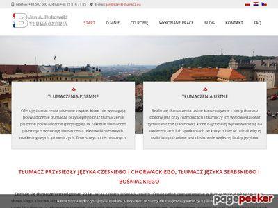 Tłumacz przysięgły języka czeskiego