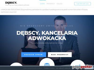 Szczegóły : Adwokat Warszawa Kancelaria Dębscy