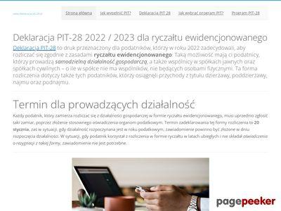 Http://www.deklaracja-pit-28.pl