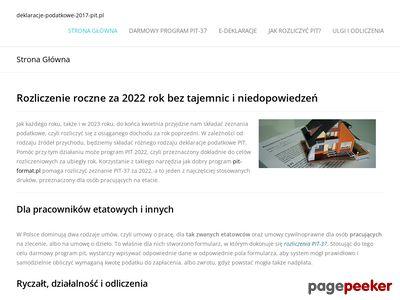 Www.deklaracje-podatkowe-2017-pit.pl