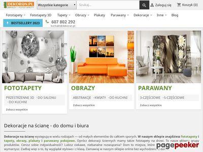 Dekoran.pl - obrazy i fototapety
