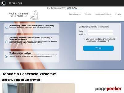 Zabiegi kosmetyczne, depilacja laserowa Wrocław