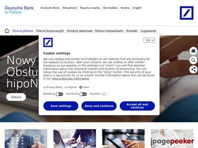 Deutsche Bank Polska - kredyty na nieruchomości