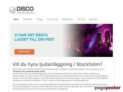 Skärmdump av discoanlaggning.se