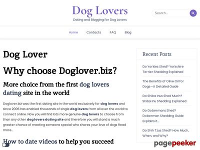 Dog lovers online dating service for single people