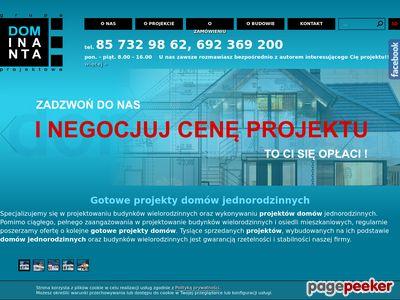 Ciekawe projekty domów dominanta.pl