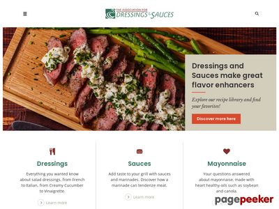 Association for Dressings and Sauces Screenshot