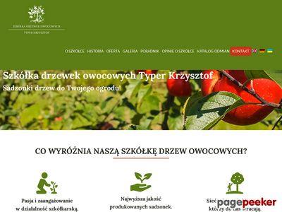 Drzewka owocowe Krzysztof Typer