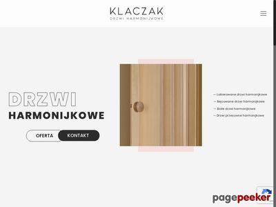Drewniane drzwi harmonijkowe na wymiar, na zamówienie