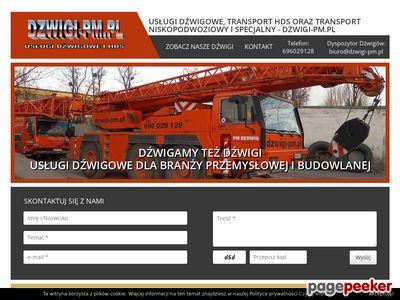 Usługi dźwigowe i hds - PM Serwis