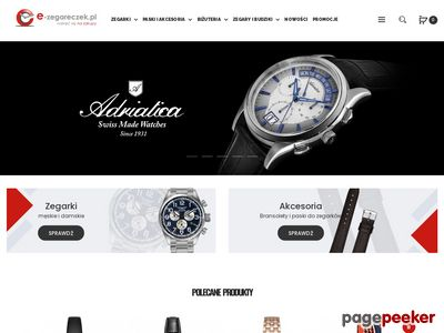 E-zegareczek.pl - markowe zegarki Casio, Tissot, Swatch, Atlantic