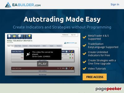 Expert Advisor Builder - Create indicators and strategies for MetaTrader 4 & 5 and TradeStation