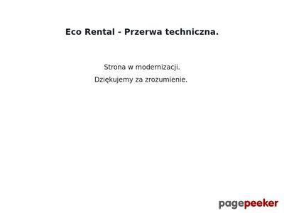 Sieć wypożyczalni samochodów Eco Rental - Strona główna