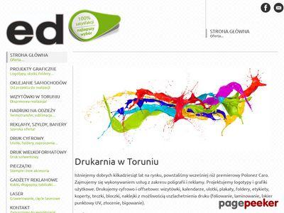 Firma ED Toruń - banery, fototapety, szyldy, reklama, naklejki, pieczątki, reklama na samochodzie, plakaty - poligrafia, druk cyfrowy