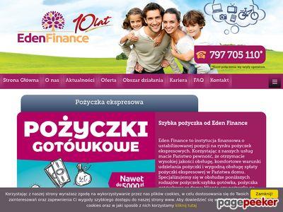 Eden Finance Sp. z o.o. - szybkie pożyczki