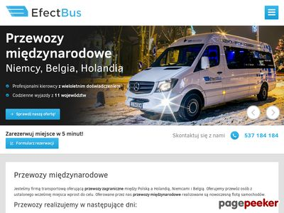EfectBus - Bus z Polski do Holandi