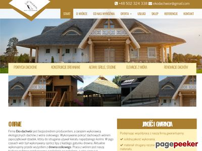Eko-Dachwiór - pokrycia dachowe wiórem osikowym