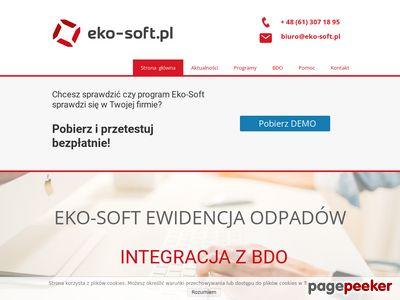 Eko-Soft- program do ewidencji odpadów