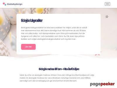 Skärmdump av ekobabydesign.se